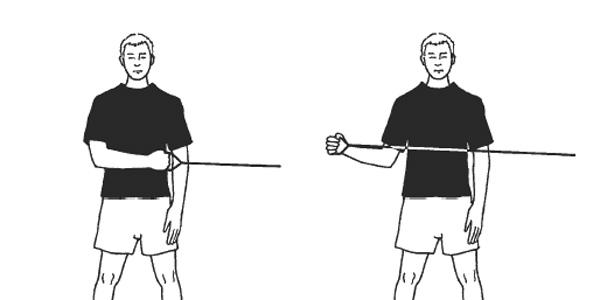 چرخش خارجی عضلات شانه